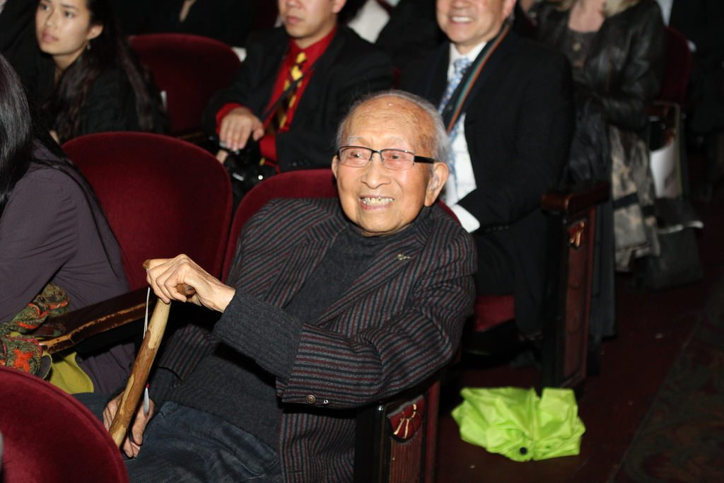Tyrus Wong, 105, at the Bay Area premiere of TYRUS,CAAMFest 2016 Opening Night, March 10, 2016 at the Castro Theater.